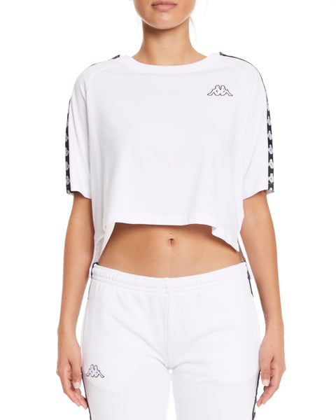 Kappa 222 Banda Avant White Black Top - Front