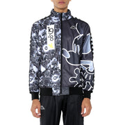 Kappa 222 Banda Anniston Disney Black Grey Graphic Track Jacket