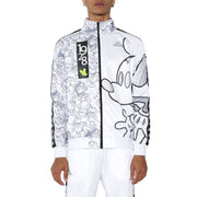 Kappa 222 Banda Anniston Disney White Grey Graphic Track Jacket