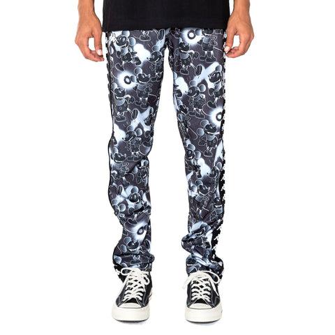222 Banda Astoria Disney Black Grey Graphic Trackpants
