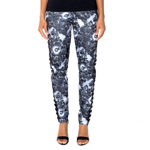 Kappa 222 Banda Astoria Disney Black Grey Graphic Trackpants