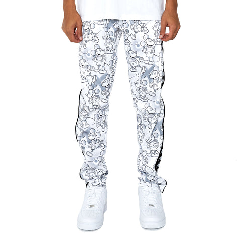 Kappa 222 Banda Astoria Disney White Grey Graphic Trackpants