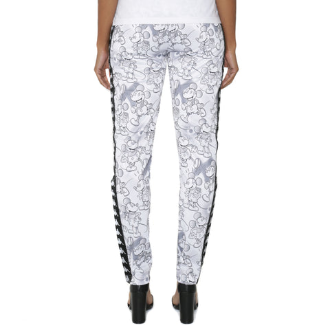 222 Banda Astoria Disney White Grey Graphic Trackpants