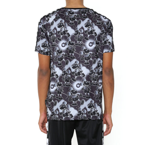 Kappa 222 Banda Coen Disney Black Grey Graphic T-Shirt