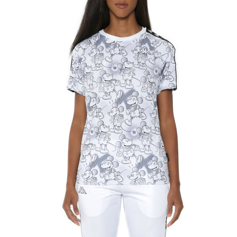 Kappa 222 Banda Coen Disney White Grey Graphic T-Shirt