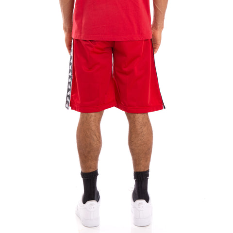 222 Banda Treadwellz Alternating Banda Red Black White Shorts