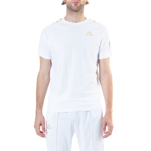 Kappa 222 Banda Coen Slim White Gold T-Shirt