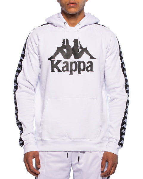 Kappa Mens Authentic Hurtado White Hoodie - Front