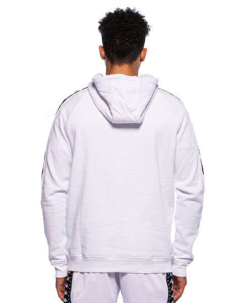 Kappa Mens Authentic Hurtado White Hoodie - Back