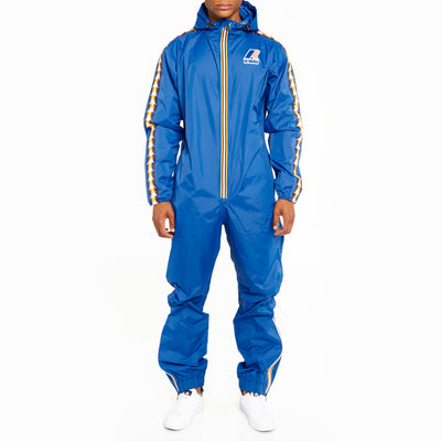 Men's K-Way X Kappa Le Vrai 3.0 Pierrik Banda Jumpsuit Blue Royal