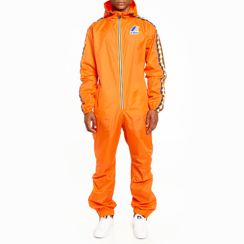 Men's K-Way X Kappa Le Vrai 3.0 Pierrik Banda Jumpsuit Orange Flame