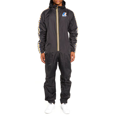 Men's K-Way X Kappa Le Vrai 3.0 Pierrik Banda Jumpsuit Black