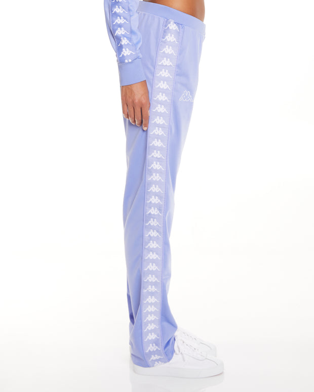 Kappa 222 Banda Wastoria Violet White Pants - Side