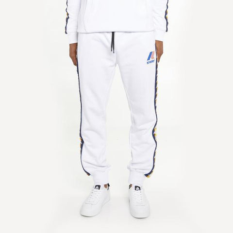 Men's K-Way X Kappa Le Vrai 3.0 Ivan Banda Sweatpants White