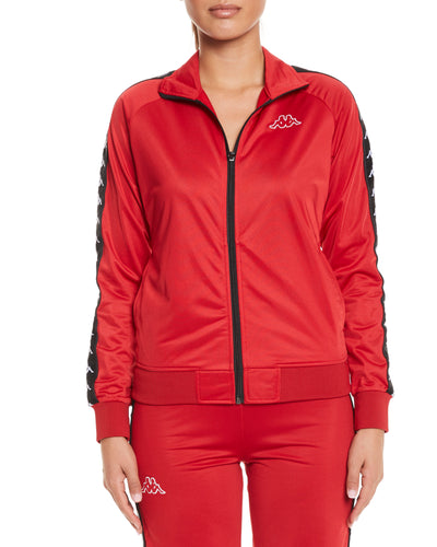 Kappa 222 Banda Wanniston Slim Red Dk Black Jacket - Front