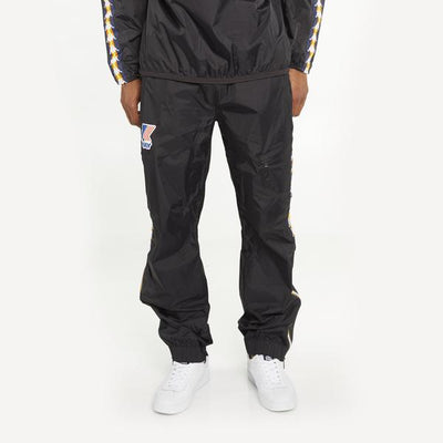 Men's K-Way X Kappa Le Vrai 3.0 Edgard Banda Pants Black