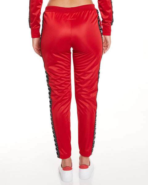 Kappa Authentic Amwor Track Pant Red - Back