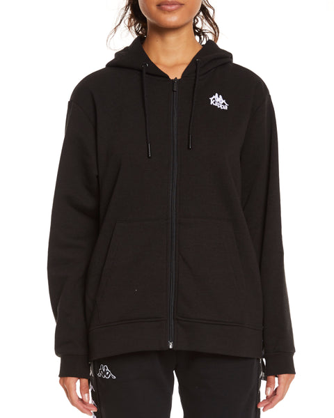 Kappa Authentic Allad Jacket Black White - Front