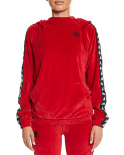 Kappa Authentic Asper Red Dk Black White Sweatshirt - Front
