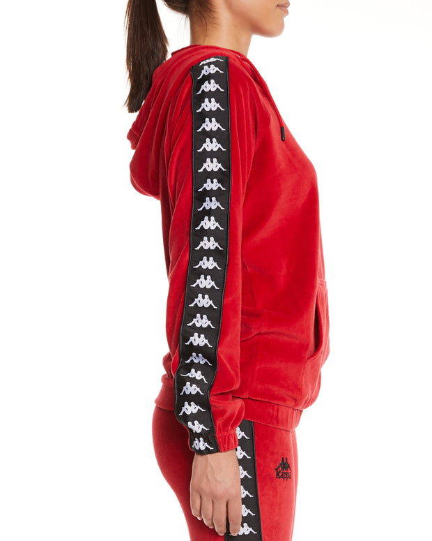 Kappa Authentic Asper Red Dk Black White Sweatshirt - Side