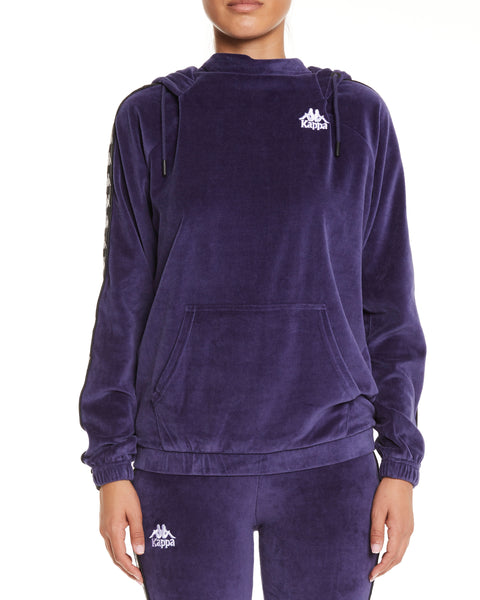 Kappa Authentic Asper Blue Greystone Black Sweatshirt - Front