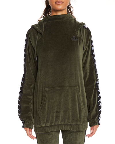 Kappa Authentic Asper Green Africa Black Sweatshirt - Front