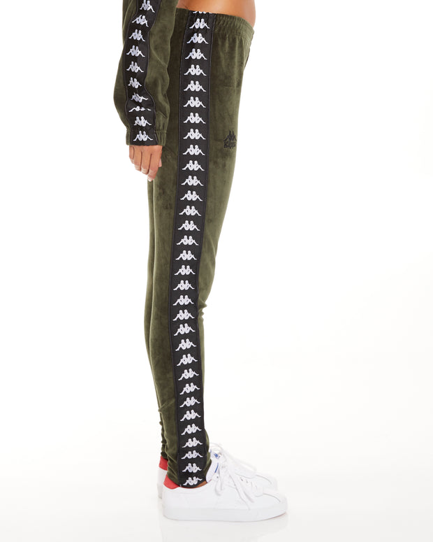 Kappa 222 Banda Ammu Green Africa Black Leggings
