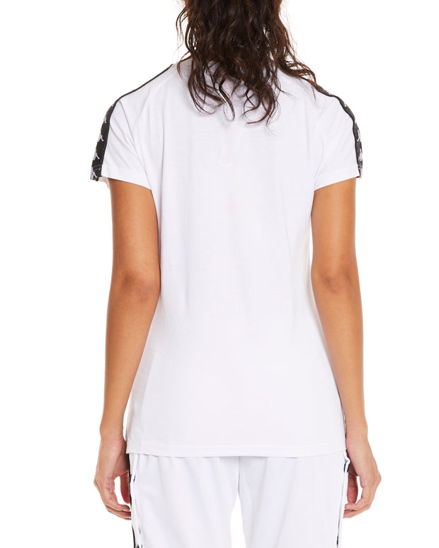 Kappa 222 Banda Woen White Black Top - Back