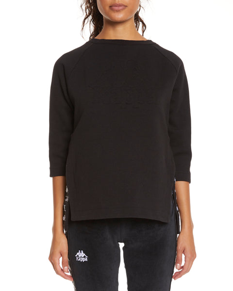 Kappa Authentic Allap Black White Top - Front