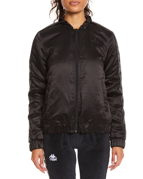 Kappa Authentic Adin Black Jacket - Front
