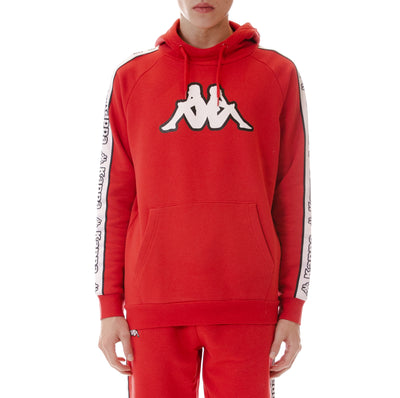 Logo Tape Apet Hoodie - Red White Black