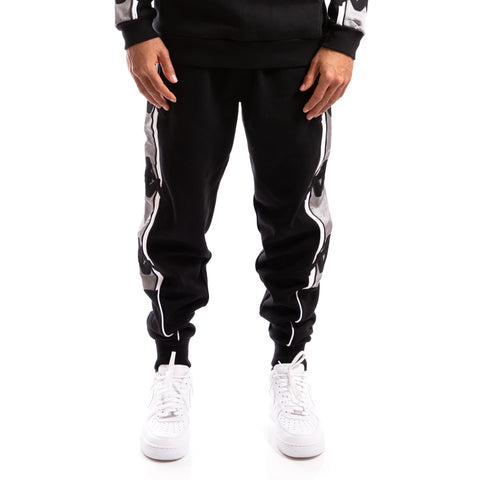 Kappa Authentic Zallard Black Grey Silver Pant
