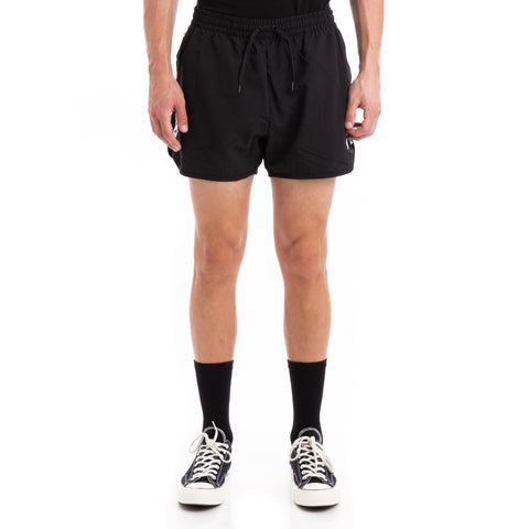 KappaAuthentic Agius Alternating Banda Black White Swim Shorts