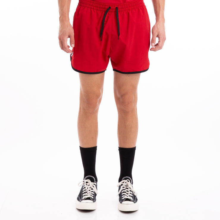 Kappa Authentic Agius Alternating Banda Red Black White Swim Shorts