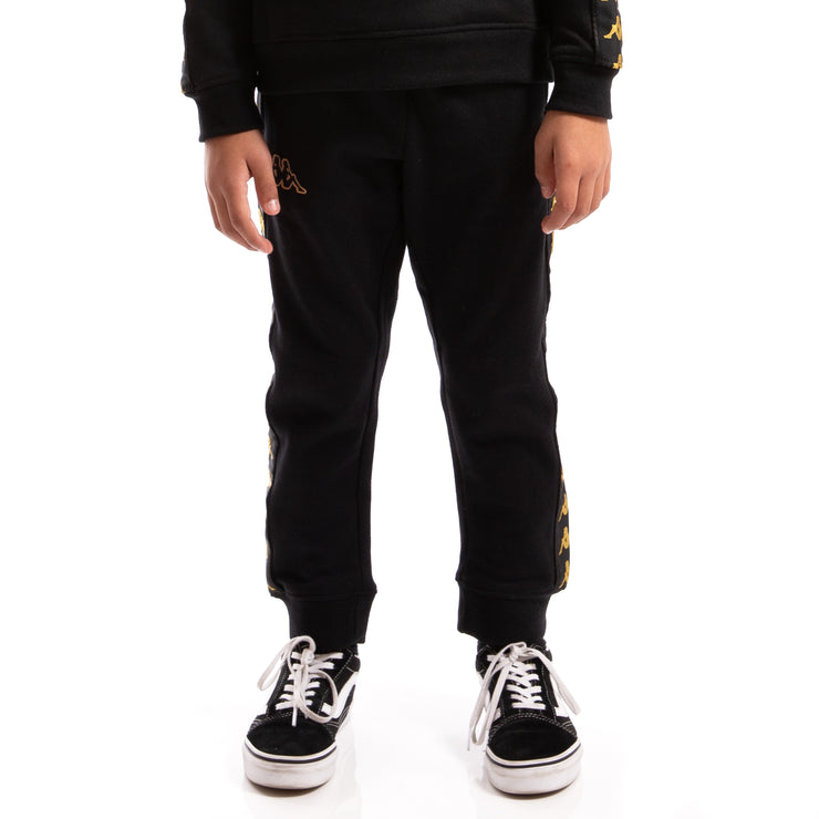 Kappa Kids Authentic 222 Banda Agrif Slim Pants Black Gold