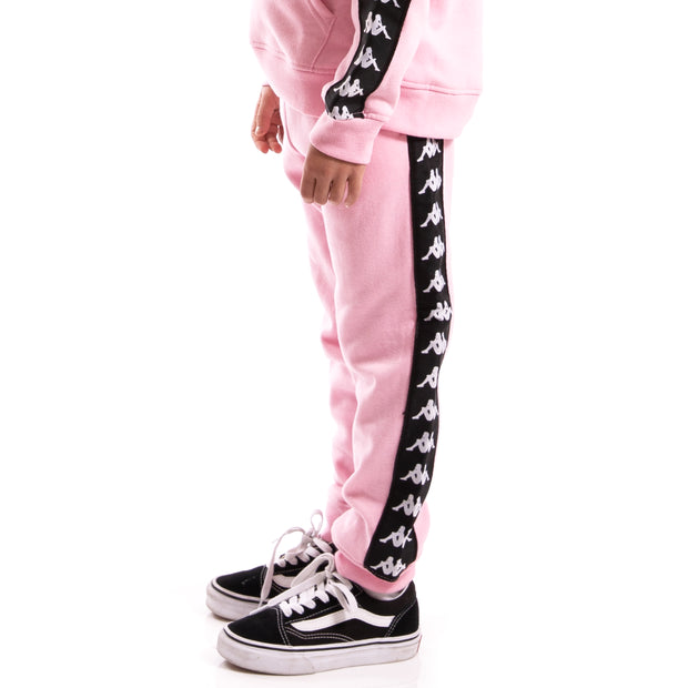 Kappa Kids Authentic 222 Banda Agrif Slim Pants Pink Soft Black