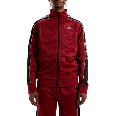 Kappa 222 Banda 10 Ahran Red Bordeaux Black