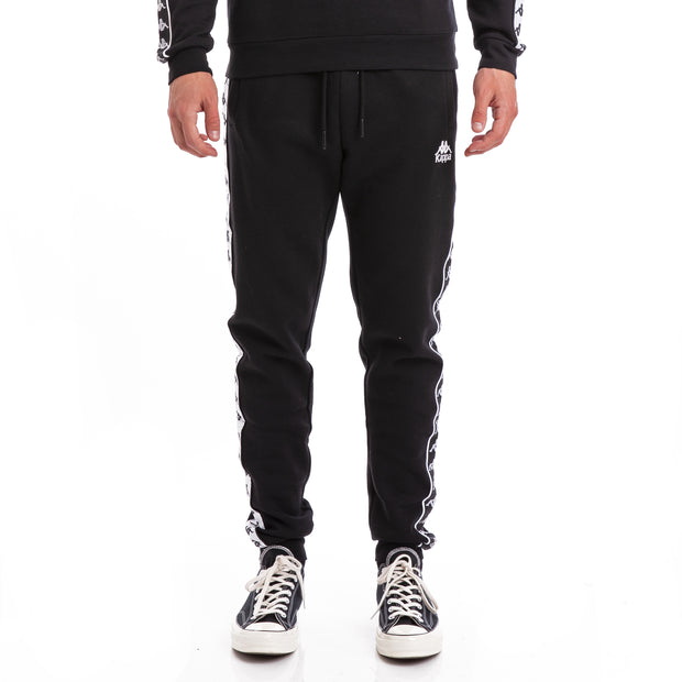 Kappa 222 Banda Alanz Alternating Banda Black White Sweatpants