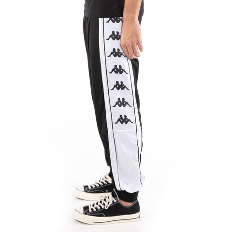 Kappa 222 Banda 10 Alen Black White Pants