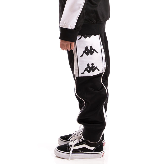 Kappa Kids Authentic 222 Banda 10 Alen Pants Black White
