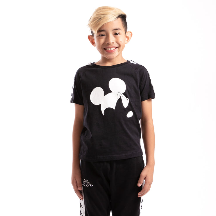 Kappa Kids Authentic Alvar Disney Black T-Shirt