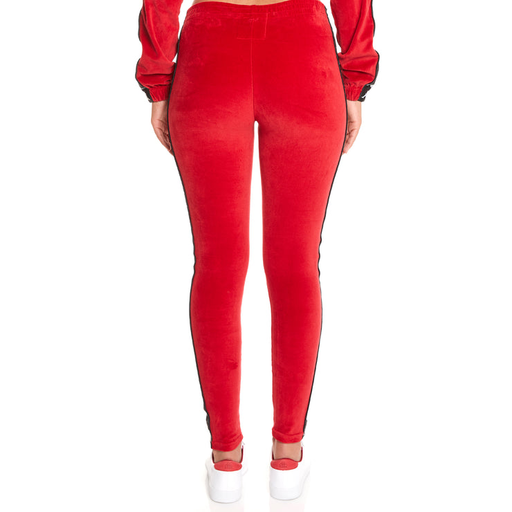 Kappa 222 Banda Ammu Red Dk Black White Leggings