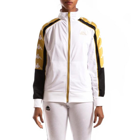 Kappa 222 Banda 10 Anay White Yellow Black Jacket