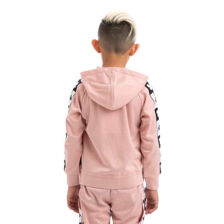 Kids Authentic Ander Disney Pink Dusty Black Hooded Track Jacket