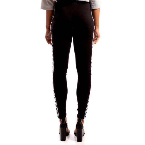 Kappa 222 Banda Anen Black White Leggings