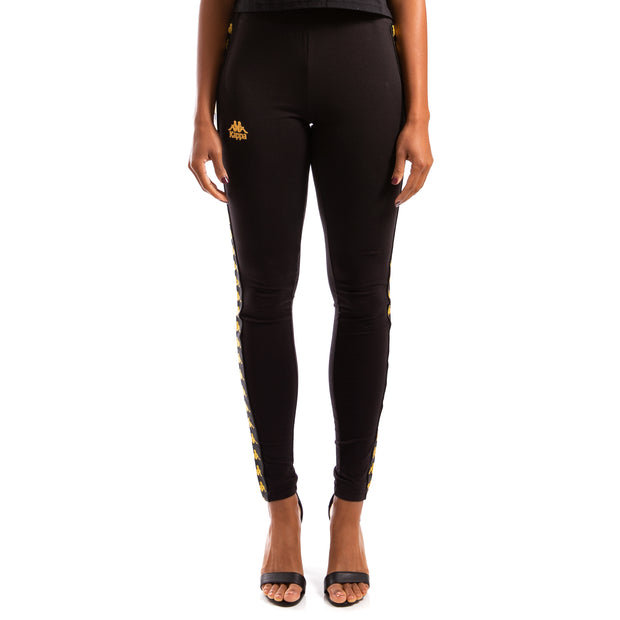 Kappa 222 Banda Anen Black Gold Leggings