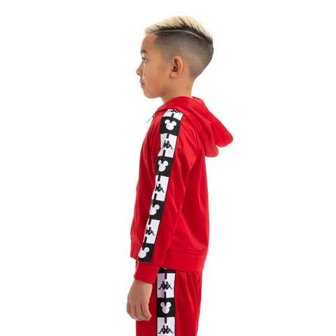 Kappa Kids Authentic Ander Disney Red Black Hooded Track Jacket