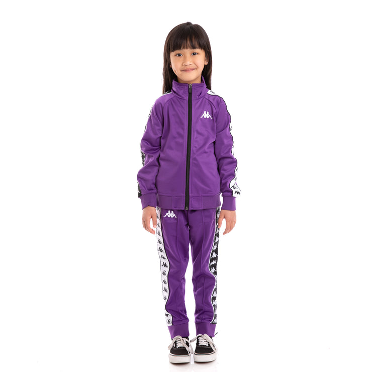 Kids 222 Banda Anniston Slim and Rastoria Slim Violet Black White Set