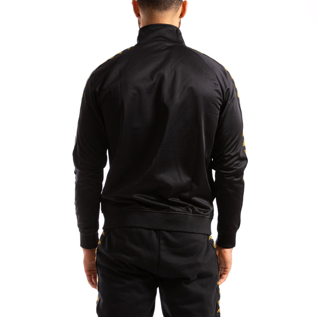 Kappa 222 Banda Anniston Slim Black  Gold Jacket