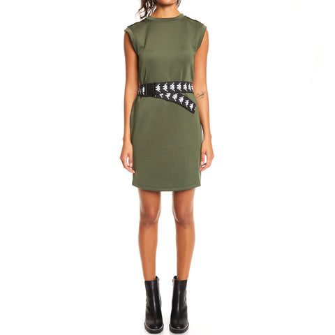 Kappa 222 Banda Aourin Green Africa Black Dress